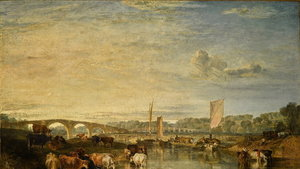 JMW Turner's Walton Bridges will be going under-the-hammer (Sotheby's)