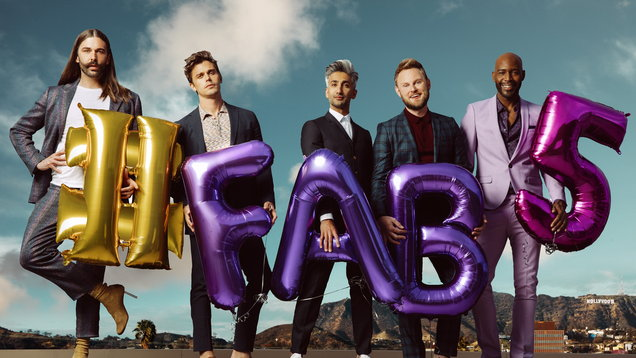 Jonathan Van Ness, Antoni Porowski, Tan France, Bobby Berk and Karamo Brown from Queer Eye, which returns for season two on Netflix in June (Netflix/PA)