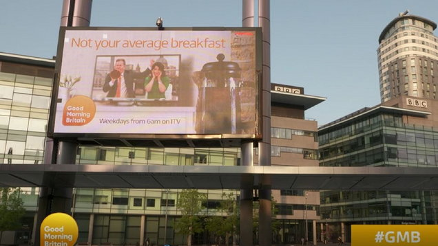 Good Morning Britain wages war with cheeky poster outside BBC