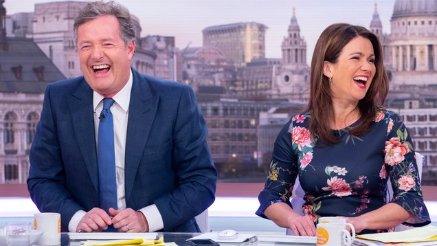 Piers Morgan and Susanna Reid on Good Morning Britain (Ken McKay/ITV/REX/Shutterstock/PA)