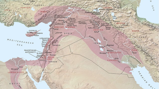 A map of the Assyrian Empire