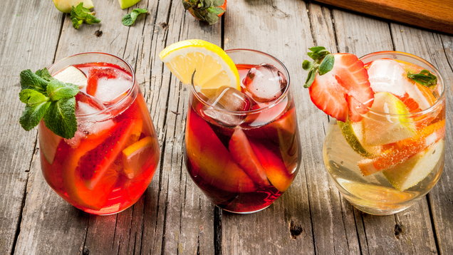 Summer drink sangria