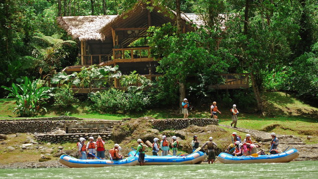 Discover the luxury jungle lodge in Costa Rica accessed by white water rapids