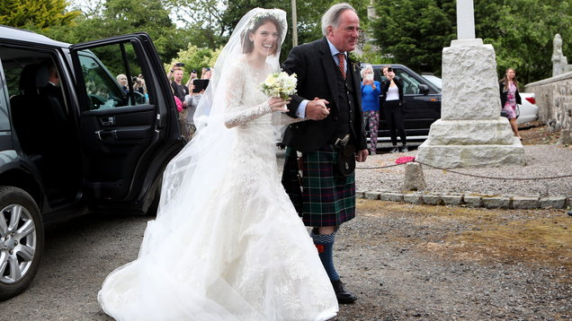 Game Of Thrones stars arrive at church for wedding