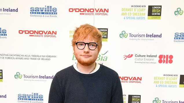Ed Sheeran nips off stage to the loo twice and fans are sympathetic