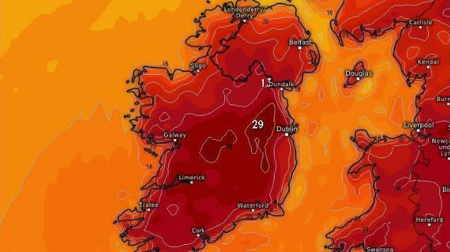 Met Éireann issue status yellow WARNING as temperatures set to SOAR