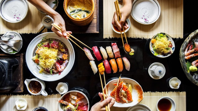 Japanese dining healthy food