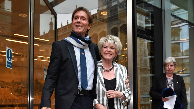 Sir Cliff Richard and Gloria Hunniford (Dominic Lipinski/PA)