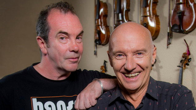 Still Game star Gavin Mitchell with musician Midge Ure (Alan Peebles)
