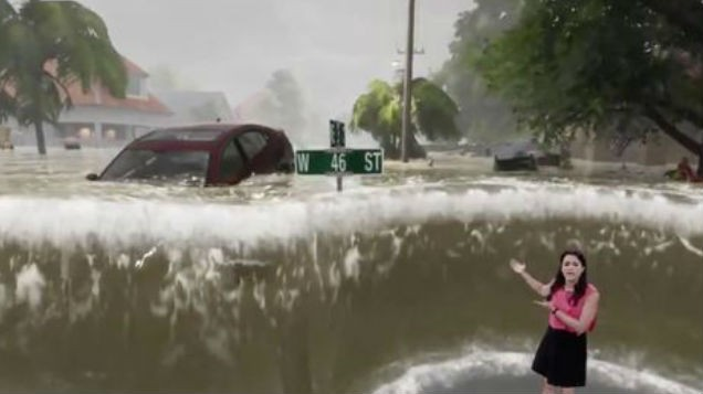 WATCH: This Hurricane Florence weather report took a TERRIFYING turn