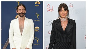 Jonathan Van Ness and Davina McCall