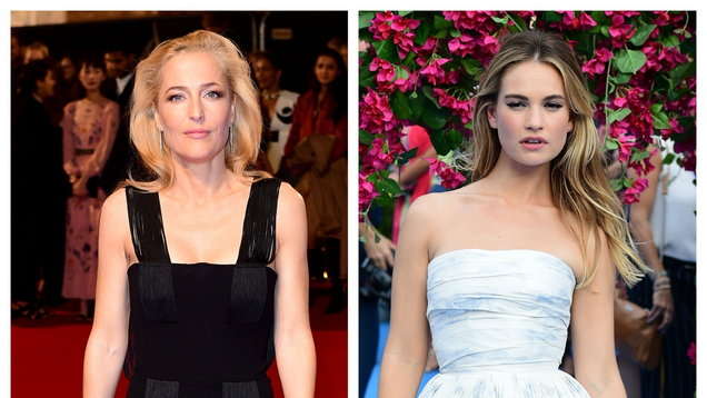 Gillian Anderson and Lily James (Ian West/PA