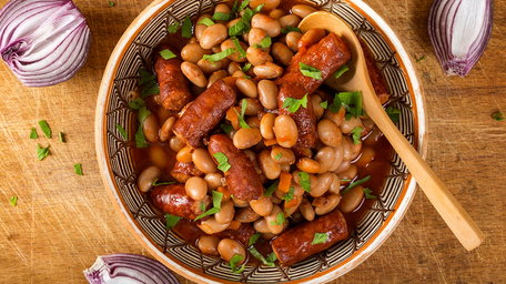Bangers Baked Beans One Pot