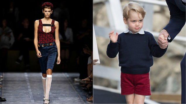 People suspect Prada's Milan Fashion Week show took inspiration from Prince George