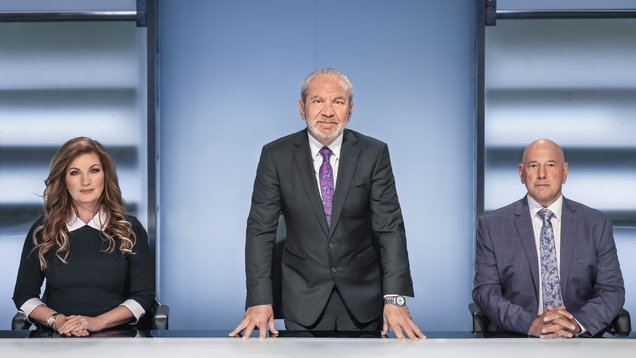 Lord Sugar, Baroness Karren Brady and Claude Littner,