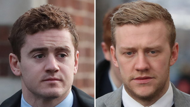 Paddy Jackson and Stuart Olding File Photo