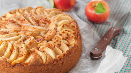 Muscovado Apple Cake with Caramel Drizzle