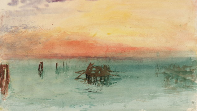 Venice: Looking Across The Lagoon At Sunset 1840 (JMW Turner)