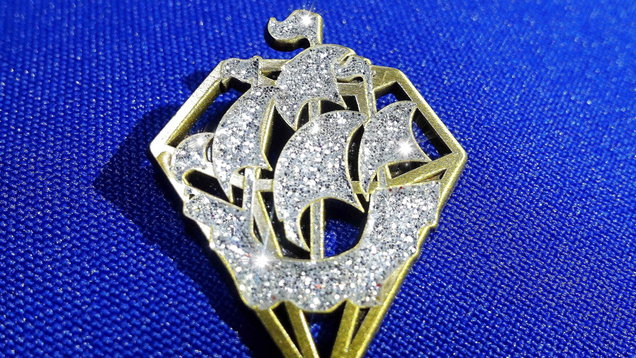 The special diamond Blue Peter badge, to commemorate the show's 60th birthday. (Image: PA)