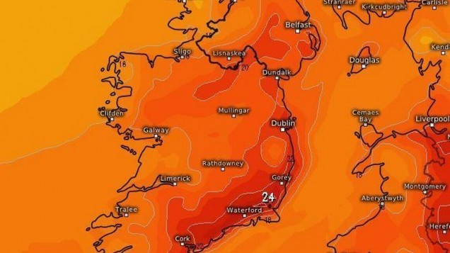 In a bizarre twist of the weather Met Éireann forecast SEARING temperatures ahead