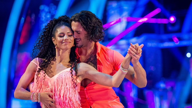 Vick Hope and her dance partner Graziano Di Prima