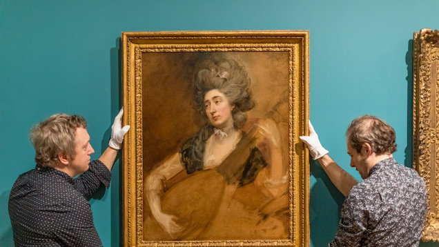 Recently rediscovered portrait of Margaret Gainsborough, the Artist's Daughter, Playing A Cittern, by Thomas Gainsborough c.1777