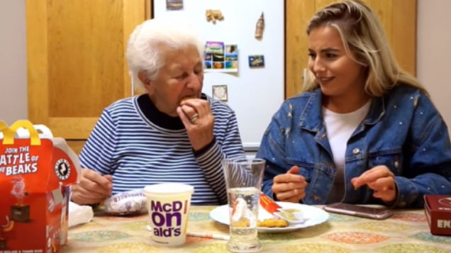 WATCH: Cork student films her granny's HILARIOUS reaction to trying McDonald's for the first time