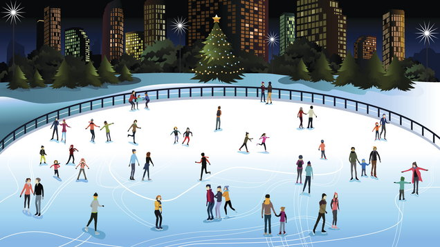 Ice rinks pop up around the UK in the winter months (thinkstock/PA)