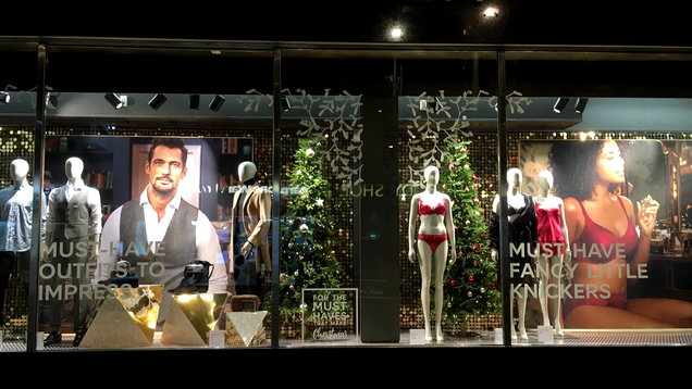 M&S window display