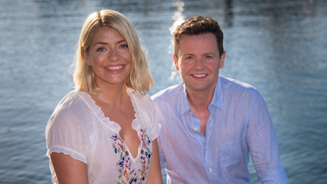 Declan Donnelly twerks as he 'competes' for camera time with Holly Willoughby