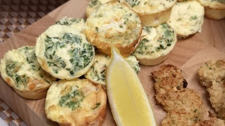 Smoked Salmon Frittata with Chives, Black Pepper & Crème Fraîche