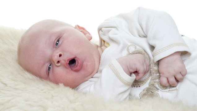 A young baby coughing (Thinkstock/PA)