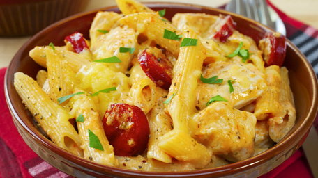 Spicy Chicken & Chorizo Pasta