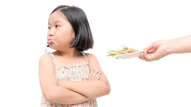 Child disgusted by vegetables