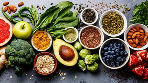 Healthy food clean eating selection