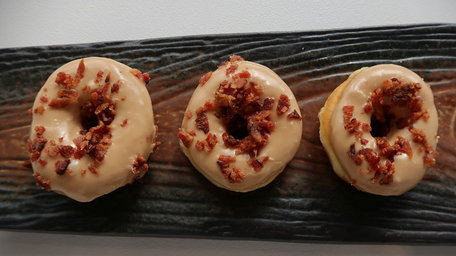 Stuffed Maple and Bacon Ring Doughnut