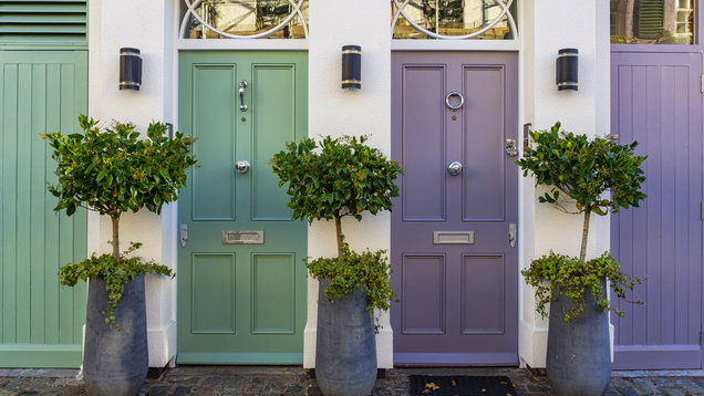 Colored doors in London