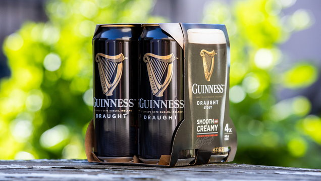 Diageo removes plastic packaging