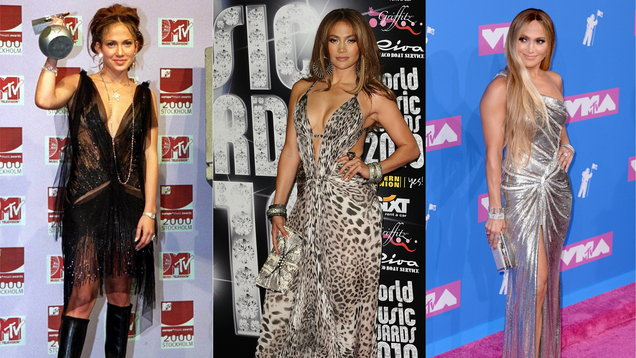 A look back at Jennifer Lopez's fashion evolution as she wins the CFDA Fashion Icon Award