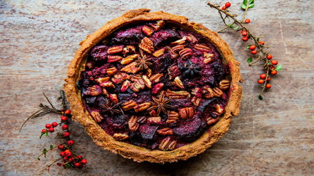 Roasted Beetroot and Red Onion Tart