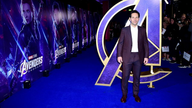 Paul Rudd attending an Avengers: Endgame fan event at Picturehouse Central in London. (Image: PA)