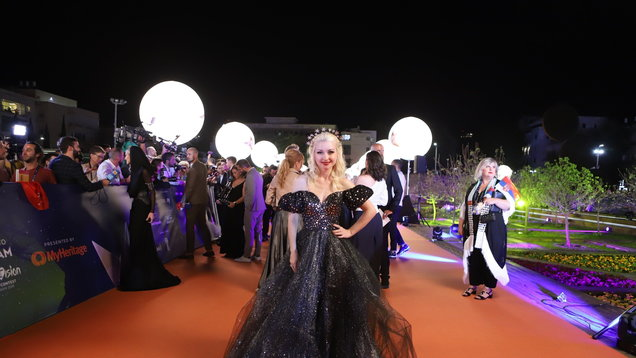 Kate Miller-Heidke at the opening ceremony of the Eurovision Song Contest 2019