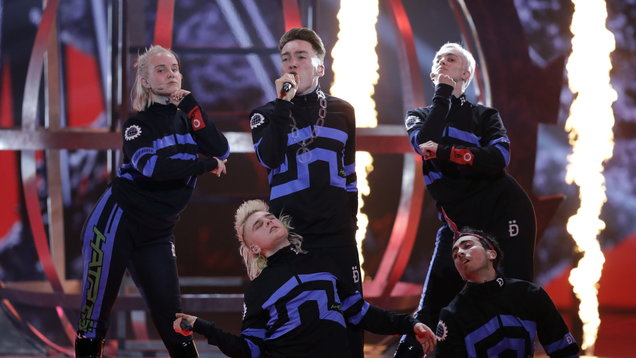 Iceland's Eurovision act displays Palestine flags during live final