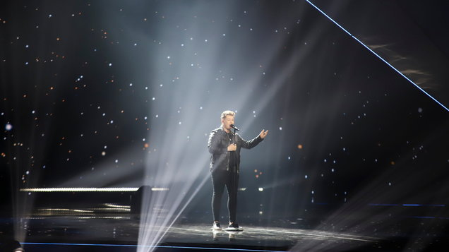The UK's Michael Rice has placed last at the Eurovision Song Contest