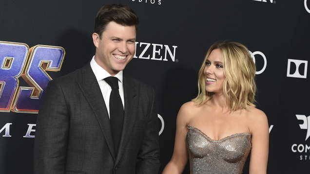 People Scarlett Johansson Colin Jost Engaged