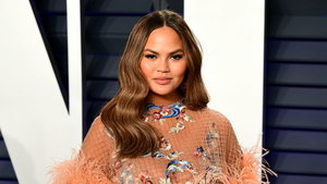 Chrissy Teigen attending the Vanity Fair Oscar Party