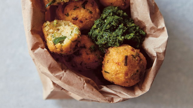 How to make Selina Periampillai's chilli dhal fritters