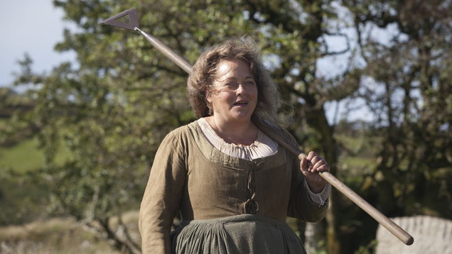Beatie Edney playing Prudie in Poldark