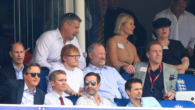 Ed Sheeran and his father watch Cricket World Cup match at Lord's