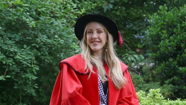 Ellie Goulding receives honorary Doctor of Arts degree